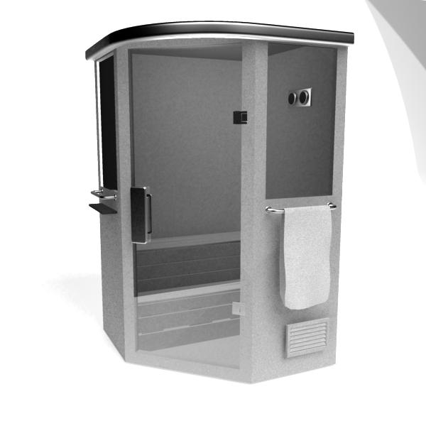 Infrared Sauna Room 3d Model 3dsMax Files Free Download