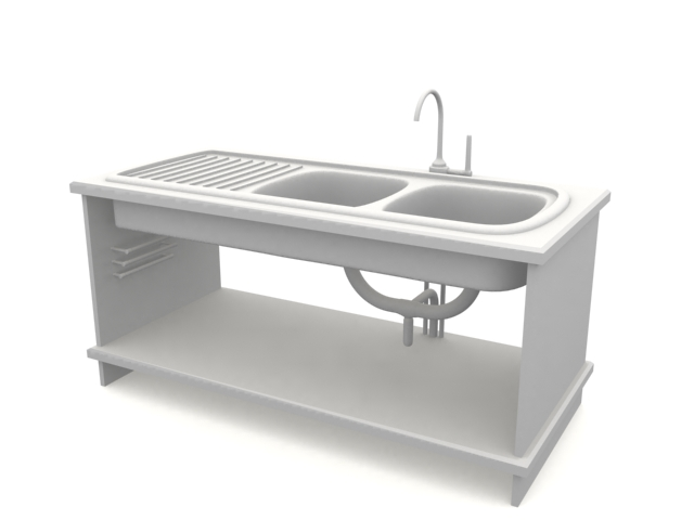 sink, available in 3dsMax, highly detailed 3d-models for kitchen sink ...