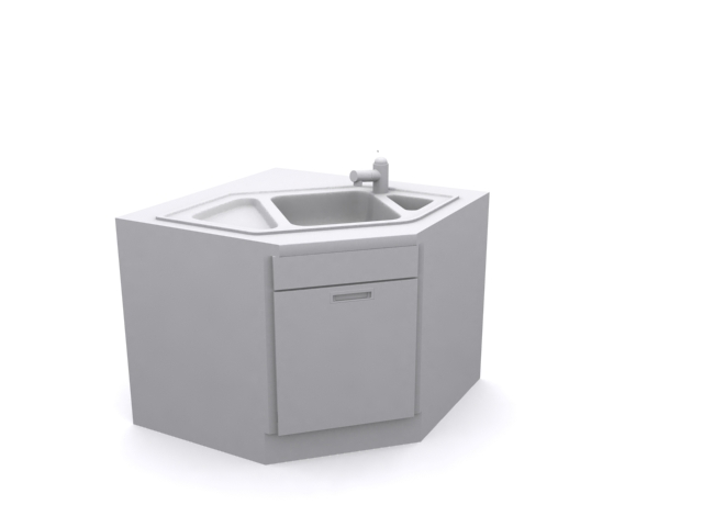 Kitchen Cabinet Single Sink 3d Model 3dsmax Files Free Download Modeling 14522 On Cadnav