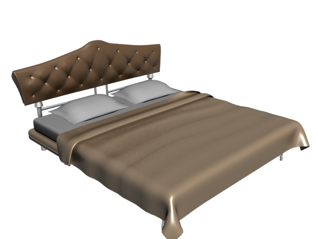 3d Double Bed Design : Modern double size bed 3d model 3dsMax files free download - modeling ...