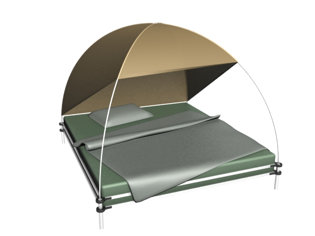 Outdoor Tent Bed 3d Model 3dsmax Files Free Download