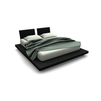 Ikea black platform bed 3d model 3dsMax files free download - modeling ...