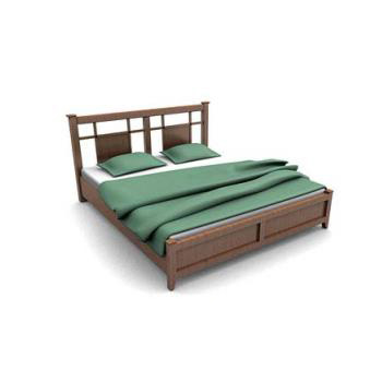 Antique wood platform bed 3d model 3dsMax files free download ...