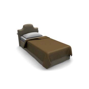 Minimalist single bed 3d model 3dsmax files free download.