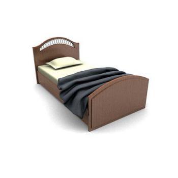 Classic Wood Single Bed 3d Model 3dsmax Files Free