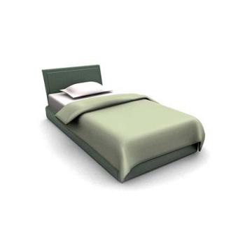 minimalist single bed 3d model 3dsmax files free download