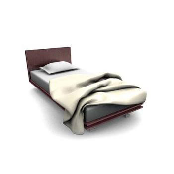 Single bed with high back alta fedelta » bed 3d models » 3d.