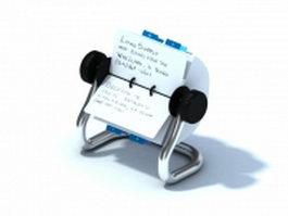 Rolodex card holder 3d model
