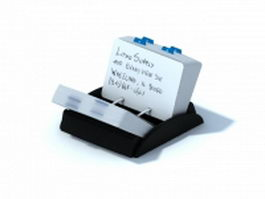 Open tray business card file holder 3d model