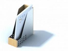 Wooden folder holder 3d preview