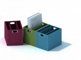 Desktop cardboard file holder 3d model