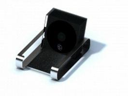 Desktop stainless steel cd rack 3d model