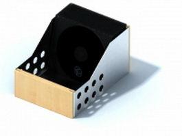 Wood desktop cd rack 3d model