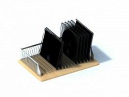Desktop cd holder cd rack 3d model