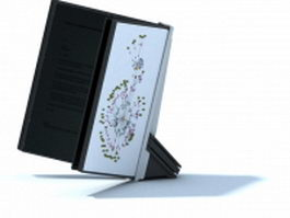 Book reading holder 3d model