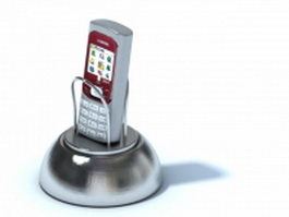 Magnetic phone holder 3d model