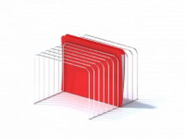 Wire rack file folder holder 3d model