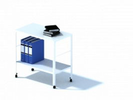 Office file desk with file folder 3d model