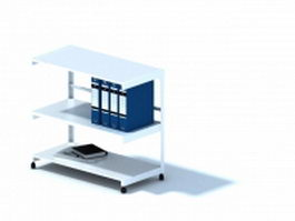 Office document desk and file folder 3d model