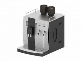 2-cup electric coffee maker 3d model