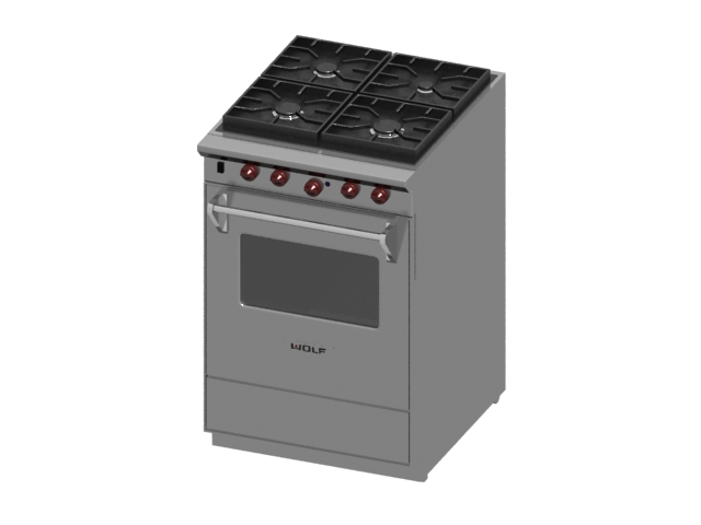 Electric baking oven 3d model