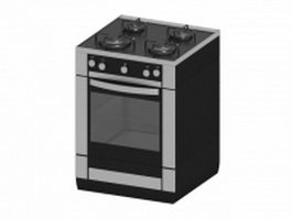 Kitchen range gas oven stove 3d model