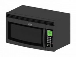Digital control grill microwave 3d model