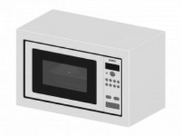 Bosch microwave oven 3d model