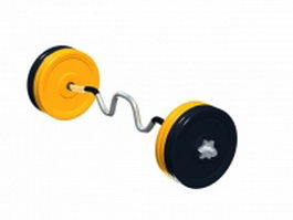 Olympic super curl bar 3d model