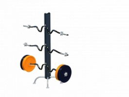 Barbell rack stand 3d model