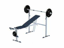 Adjustable weightlifting benches 3d model