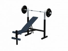 Adjustable weight training bench 3d model