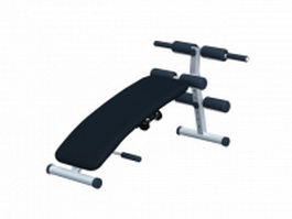 Multifunction exercise bench 3d model