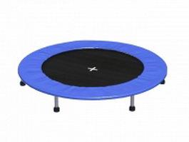 Big round trampoline 3d model