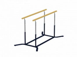 Adjustable parallel bars 3d model