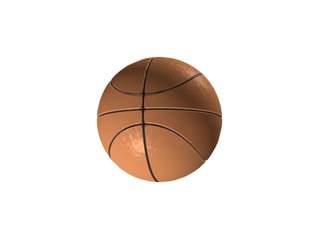 Rubber basketball 3d rendering