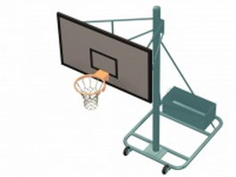 Gymnasiums basketball stand 3d model