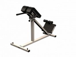 Abdominal exercises equipment 3d model