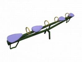 Outdoor metal seesaw 3d model