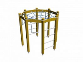 Playground climbing frame 3d model