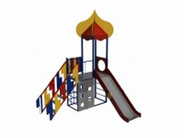 Children playground slide 3d model