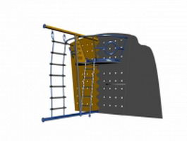 Kids indoor climbing wall 3d model