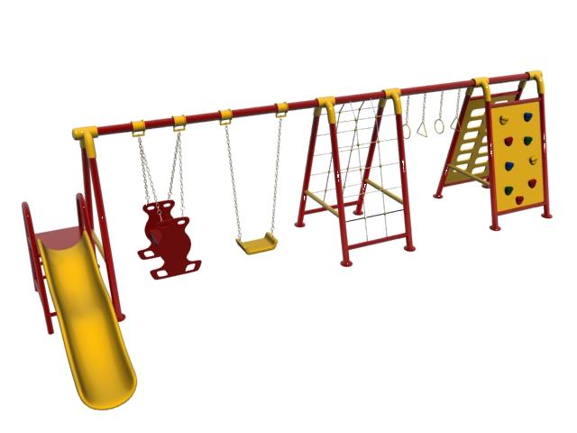 Kids playset 3d rendering