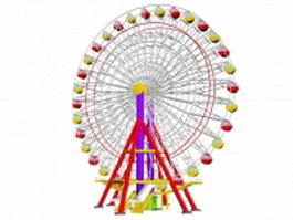 Amusement ferris wheel 3d model