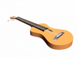 Romantic guitar 3d model