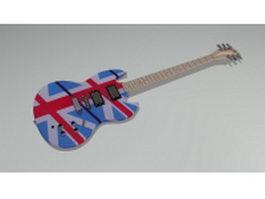 Electric bass guitar 3d model