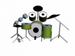 Jazz drum set 3d model