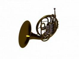 Triple horn 3d model