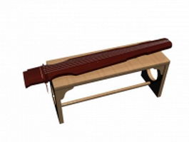 Chinese 7-stringed guzheng 3d model