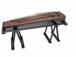 Modern guzheng 3d model